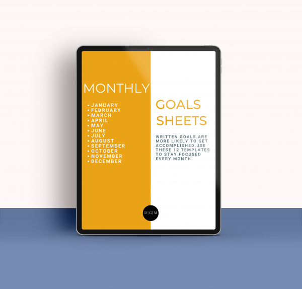 Monthly Goal Sheets Color Honey