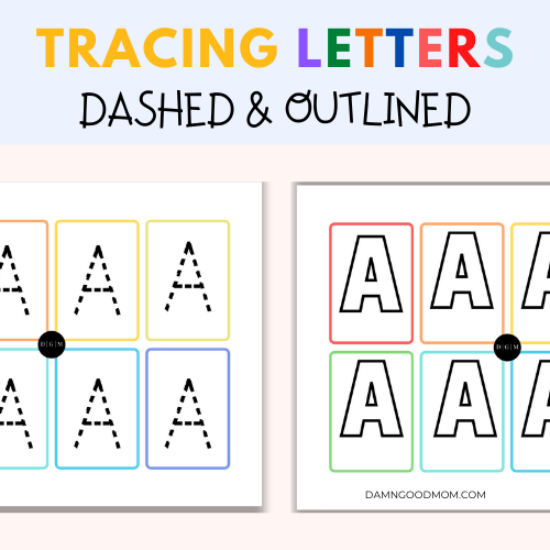 tracing letters worksheets kids