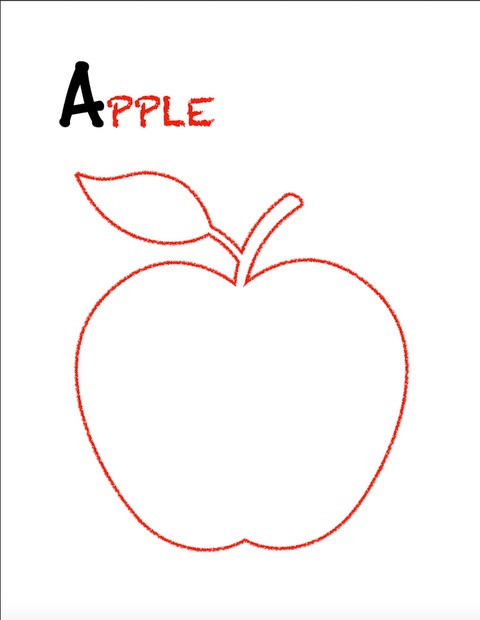 Learn the alphabet, A is for apple