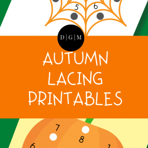 Autumn Lacing Printables