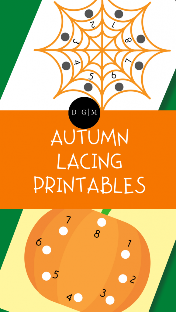 Autumn Lacing Printables