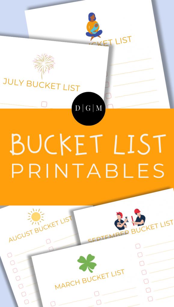 Bucket List Printables