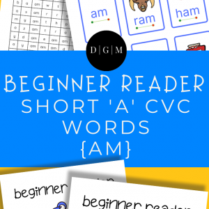Learn to read, short A, CVC words, early learning, -AM ending