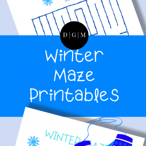 Activity Winter Mazes for Kids