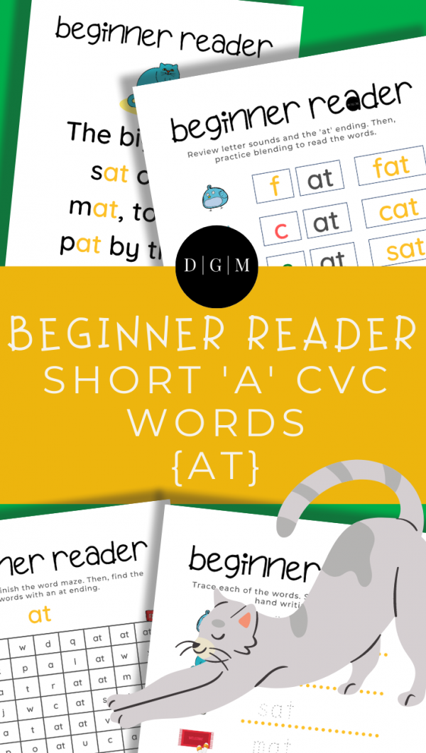 Learn to read, CVC words, at ending,