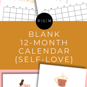 Self-love themed printable calendar download