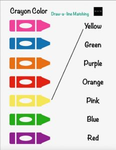 Crayon Color Matching Line Match
